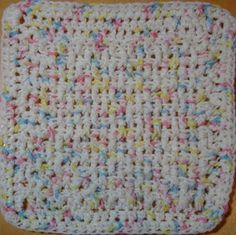 Durable dish cloth crocheted with cotton yarn. It's fun to make.