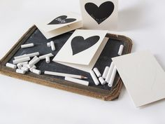 Chalk heart cards