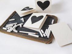 Chalk heart cards