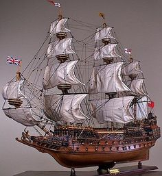 Sovereign Of The Seas Limited - Wood Model Boat - Decorative Tall Ship Model Model Sailing Ships, Old Sailing Ships, Sailing Boat, Model Ship Building, Boat Building, Scale Model Ships, Scale Models, Wooden Model Boats, Ship Drawing