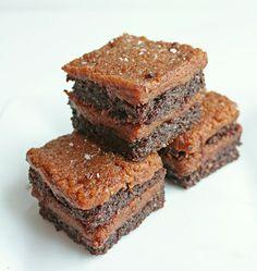 salted 'caramel' paleo brownies. yummmmay