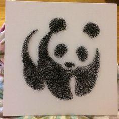 String art panda, 30x30cm