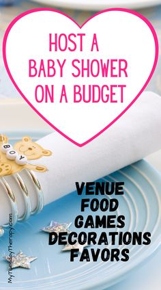 How to host a baby shower on a budget. Cheap baby shower ideas for decorations, games, food, favors, invitations, venue. Cheap baby shower ideas for boys, cheap baby shower ideas for girls. Baby Shower List, Baby Shower Venues, Budget Baby Shower, Baby Shower Prizes, Cheap Baby Shower, Baby Shower Games, Baby Boy Shower, Shower Tips, Shower Ideas