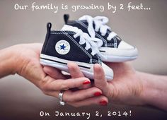 Pregnancy Announcement Photo Shoes | Early Pregnancy