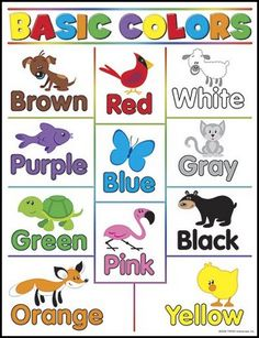 - Stimulate development with vibrant charts that teach essential skills. Choose from a variety of titles that will prepare kids for tests and encourage learning all year long. x classroom size. Reproducibles and teaching tips on back. Kids English, English Lessons, Color Activities, Learning Activities, Ingles Kids, Basic Colors, Colours, Learn Portuguese, Portuguese Lessons