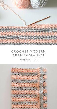 Transcendent Crochet a Solid Granny Square Ideas. Inconceivable Crochet a Solid Granny Square Ideas. Crochet For Beginners Blanket, Baby Blanket Crochet, Crochet Baby, Free Crochet, Baby Knitting, Crotchet, Beginner Crochet, Modern Crochet Blanket, Free Knitting