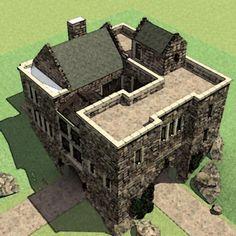 plan 44071td scottish highland castle castle house plans unique