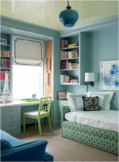 cute girl bedroom - Your daughter will love a room filled with color, patterns, and cute accessories! Click through to find oh-so-pretty bedroom decorating ideas for girls of all ages.