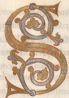 Calligraphy Letters, Caligraphy, Illuminated Letters, Illuminated Manuscript, S Alphabet, Old Letters, Illumination Art, Book Of Kells, Medieval Manuscript
