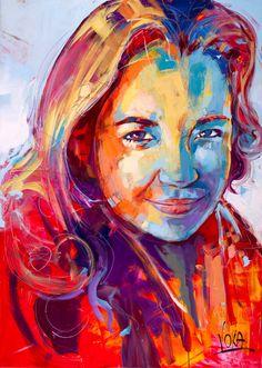 Selina, x inch, Acryl auf Leinen Abstract Portrait, Abstract Drawings, Portrait Art, Portraits, Art Pop, Voka Art, Easy Canvas Art, Eye Painting, Art For Art Sake