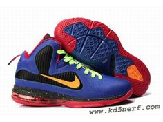 finest selection 1b918 0a0b4 New Nike Zoom LeBron 9 Shoes Blue Black Red Nike Lebron, Lebron 9 Shoes,