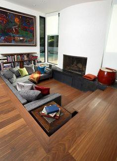 50 Cool Sunken Living Room Designs