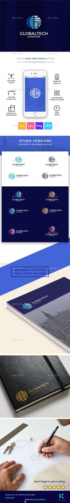 global technology consultant company creative letter g logo template