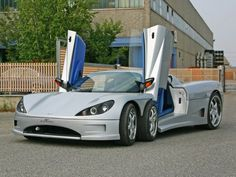 The Corvini C6W, and yeah, you're not seeing things, thats six wheels. Runs an Audi V8 engine, carbon fibre body and scissor doors
