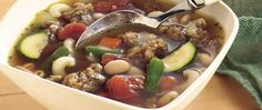 Need a hearty warmer-upper? Make a one-pot soup packed with meat, beans and pasta to satisfy hungry appetites.