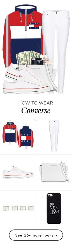 """""""Baby gurl"""" by carlasaenz on Polyvore featuring Paige Denim, October's Very Own, Maison Margiela, Victoria's Secret, Michael Kors and Converse"""