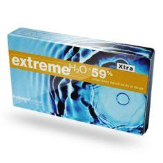 """Soczewki kontaktowe Hydrogel Vision Corporation - Extreme H2O. """"S-Xtra: soczewki kontaktowe, które nie wysychają na oku."""" Każde opakowanie zawiera 6 soczewek."""