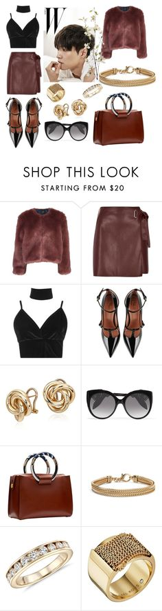 """""""Untitled #395"""" by karla-armstrong ❤ liked on Polyvore featuring Stine Goya, River Island, Boohoo, RED Valentino, Blue Nile, Alexander McQueen, The Row, Michael Kors and Pier 1 Imports"""