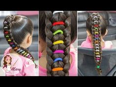 Corazon y Trenza Cascada con Truco - Heart and Faux Waterfall Kids Braided Hairstyles, Top Hairstyles, Little Girl Hairstyles, Fancy Braids, Girls Braids, Beautiful Hairstyle For Girl, Beautiful Hairstyles, Rainbow Braids, Knot Ponytail
