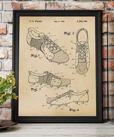 Loving this Soccer Shoes 1980 Patent Art Print on #zulily! #zulilyfinds