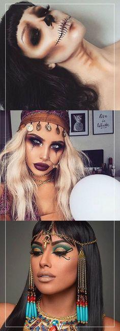 5 looks de maquillaje para Halloween. #Calavera #Makeup #Costume