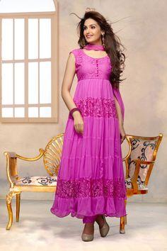 c26e55fd2d Buy Online Khantil Latest Lavender Pink Color Anarkali Suit at Best Price in  India - Pink Anarkali Suit for Clothing