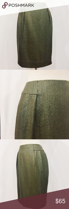 🔆 Carmen Marc Valvo Olive Green Silk Sequin Skirt Sophisticated and sexy!  Perfect condition, all Sequins intact. Fully lined. Body 100% Silk Lining 100^ Acetate Dry Clean Only Carmen Marc Valvo Skirts Pencil