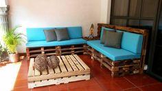 decoracion de living con muebles de palets - Buscar con Google