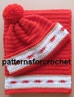 Free crochet pattern for adult Hat & Scarf set from http://www.patternsforcrochet.co.uk/adult-bobble-hat-scarf-usa.html