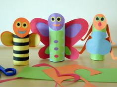 making bugs out of papertowel rolls. Bugs!- another fair fun day idea