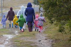 Whatever the weather they are out and walking.