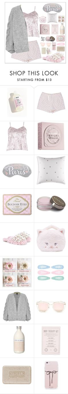 """Sleep In: Lazy Day"" by lushxoxo ❤ liked on Polyvore featuring LC Lauren Conrad, Boohoo, Sephora Collection, Kate Spade, Miu Miu, Forever 21, River Island, Quay, Pearl & Queenie and Kocostar"