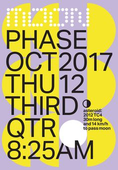 Moon Phase - Winter-Hebert #typography #grid #poster