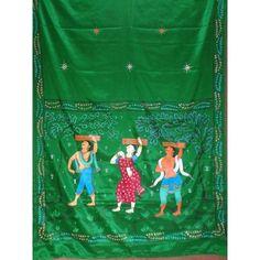 New design handicraft patachitra saree.