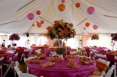 Emma Corrie Bespoke Wedding with Tangerine and Pink Color Scheme