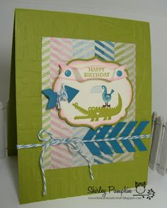 Card with stamp set Zoo Babies from Stampin' Up! Cute stuff by Shirley aka look at my cute stuff. Stampin Up. #stampinup #lookatmycutestuff