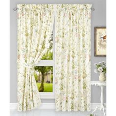Kyra Hydrangea Tailored Curtain Panel brings the gorgeous sights of spring indoors. The traditional hydrangea pattern on high quality fabric will drape beautifully and bring a breath of fresh air into the entire room. Kyra is a traditional hydrangea floral print pattern on solid natural colored ground that features a range of shades that coordinate easily with a variety of solids and patterns within your home. Made with 52% polyester and 48% 5-ounce cotton fabric creates a smooth draping…