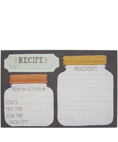 Mason Jar Recipe Card Set http://bit.ly/1ldJHyH