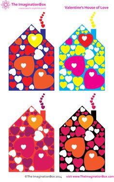 Free pdf download coloring activity for kids - a houseful of hearts for Valentine's Day