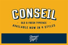Conseil Typeface by Imagi Type Co. on @creativemarket