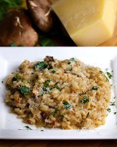 One-Pot Bacon Mushroom Risotto