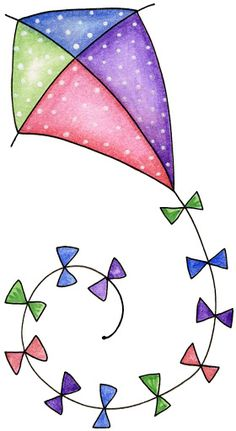 """Let's go fly a kite - Laurie Furnell - """"Birds of a feather"""" Art Drawings For Kids, Easy Drawings, Applique Patterns, Applique Designs, Doodle Art, Watercolor Cards, Fabric Painting, Canvas Painting Designs, Kite"""