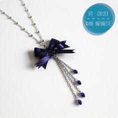 DIY Necklace Marie Antoinette Blue Knot