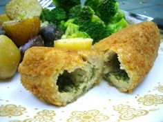 Vegan Chicken Kievs. - use this seitan recipe to cut into strips for stir-fries, batter and deep-fry it, make no-chicken nuggets or fingers, cut it up into a no-chicken salad, braise it and serve it with gravy, whatever. Plus you could use this same method and stuff it with all sorts of things