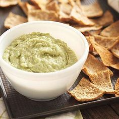Lima Bean Hummus with Toasted Pita Crisps