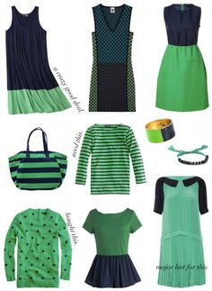 Navy & green. Second only to pink & green for me.