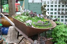 Fairy Gardening at Planters Palette by Hillary Lang, via Flickr