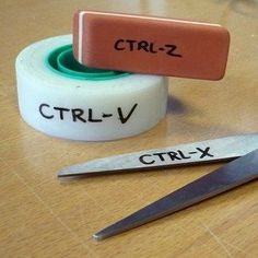 Labels are always a good way to remember the shortcut keys