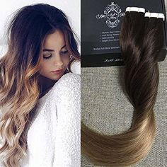 Skin Weft Hair Extensions Full Shine Balayage Ombre Color 2 Ombre Color 6 Fading to Color 18 Tape in Hair Extensions 100 Real Human Hair Skin Weft *** AliExpress Affiliate's Pin. Locate the offer simply by clicking the image