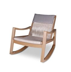 0da6cc2a25d Vagga Rope Rocking Chair - Sand Dune - The Modern Furniture Store
